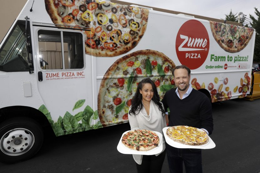 Robot-powered pizza delivery service: Zume Pizza in Mountain View, Ca